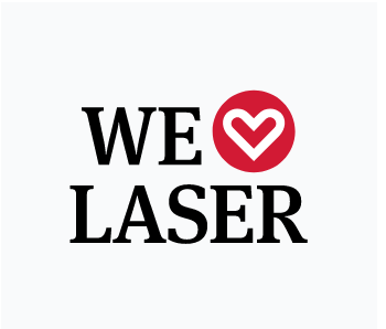 Logo: We love laser.