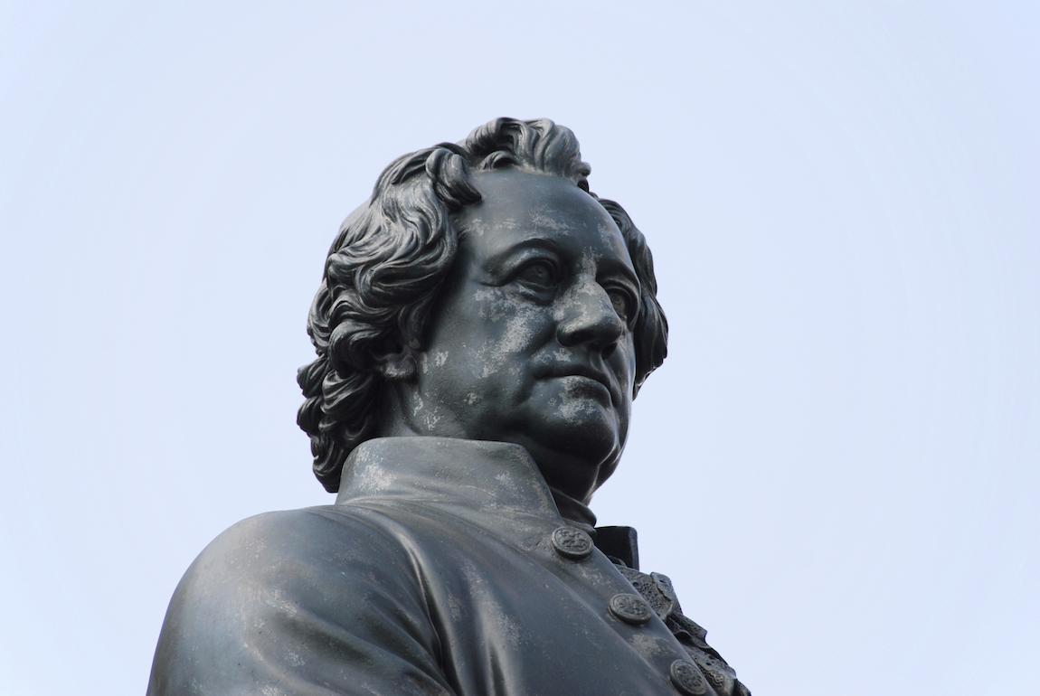 Büste von Johann Wolfgang von Goethe.