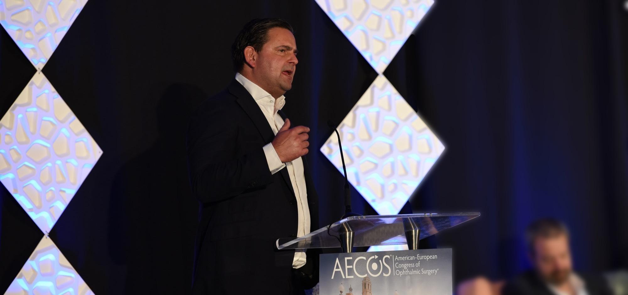 Dr. Breyer beim European AECOS-Meeting 2019.