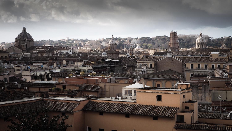 Blick vom Hügel auf Rom