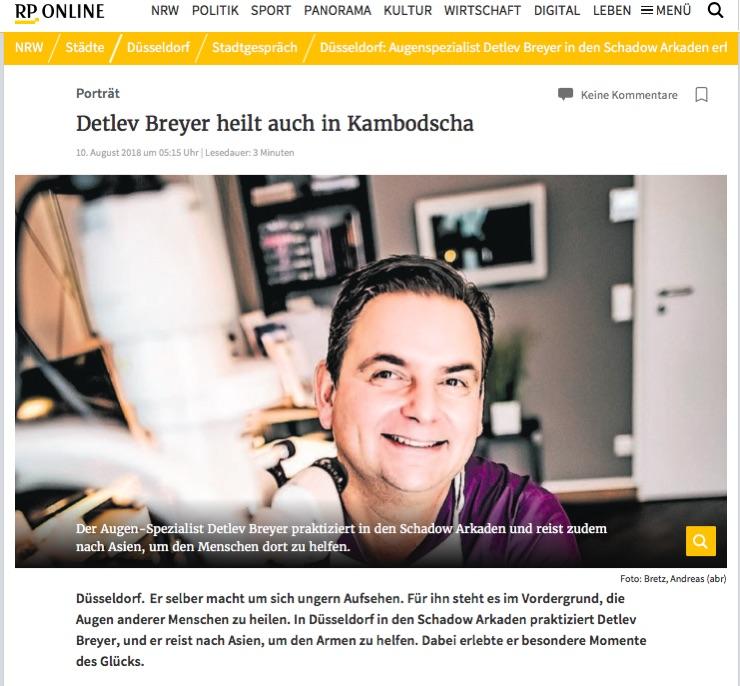 Screenshot des Berichtes über Detlev Breyer.