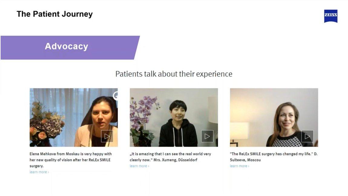 So berichten zufriedene Patientinnen über ihre Behandlung bei Premium Eyes ...