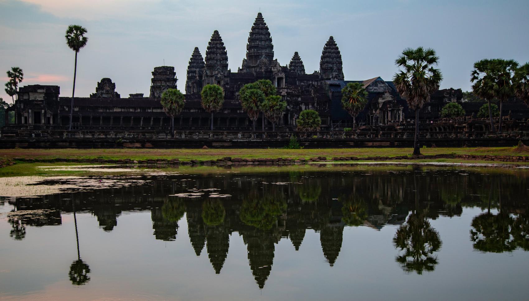 Die Tempelanlagen von Angkor Wat in Kambodscha.