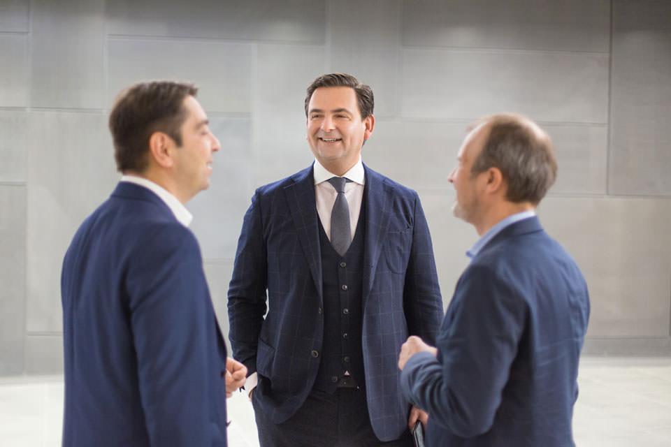 Dr. Kaymak, Dr. Breyer und Dr. Klabe im Gespräch beim RWA 2016