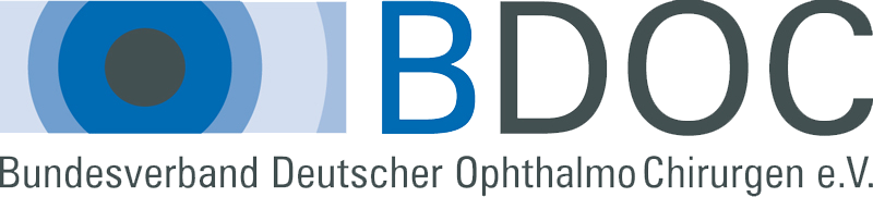 Logo: Bundesverband Deutscher OphthalmoChirurgen e.V. BDOC