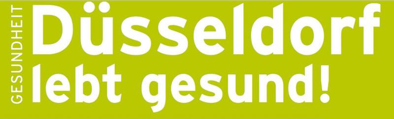Logo: DÜSSELDORF LEBT GESUND!
