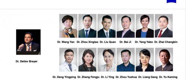 Dr. Breyer gibt ein Webinar mit Augenchirurgen aus China