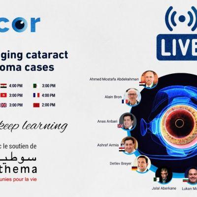 Teaserbild für das ACOR Webinar über schwierige Katarakt- und Glaukomoperationen im Mai 2020