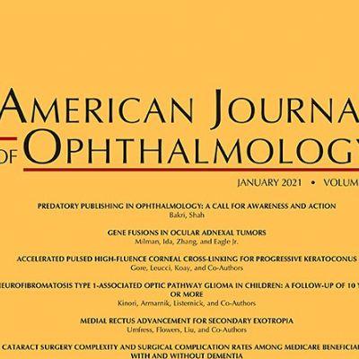 Screenshot von der Januarausgabe des American Journal of Ophthalmology 2021