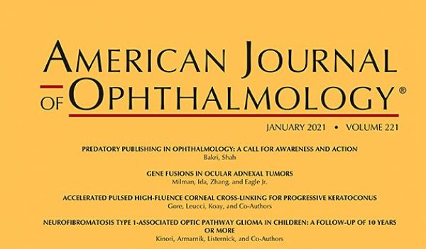 Screenshot von der Januarausgabe des American Journal of Ophthalmology 2021