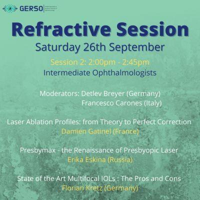 Refractive Session am 26. September 2020 mit Dr. Breyer