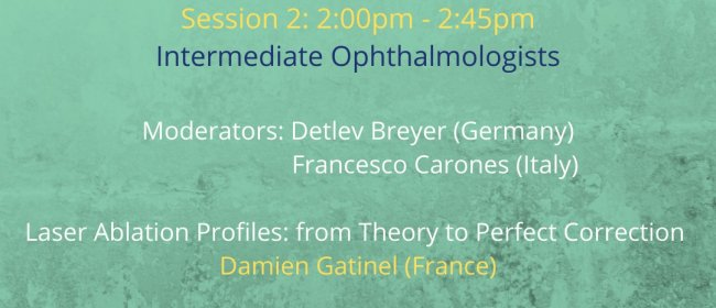 Refractive Session am 26. September 2020 mit Dr. Breyer