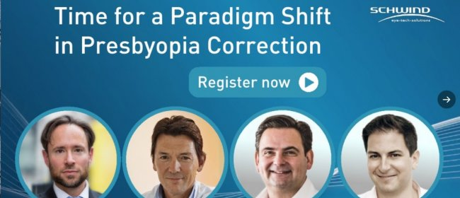 Schwind-Webinar zur Presbyopie-Korrektur mit Dr. Breyer