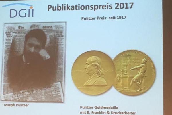 Abbildung der Pulitzer-Goldmedaille.