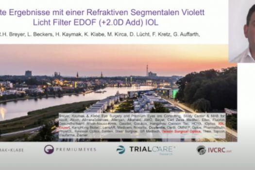 Teaserbild DGII 21 Erste Ergebnisse mit einer refraktiven segmentalen Violettlichtfilter EDOF-IOL