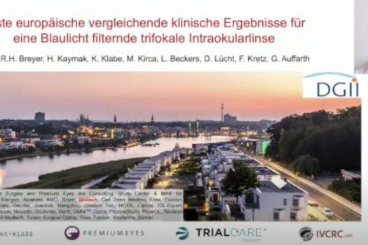 Teaserbild DGII 21 Erste europäische vergleichende klinische Ergebnisse für eine Blaulicht filternde trifokale Intraokularlinse