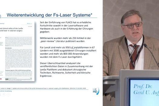 Teaserbild ISA19 Femtosekundenlaser-assistierte Kataraktchirurgie (FLACS): Update – Prof. Auffarth