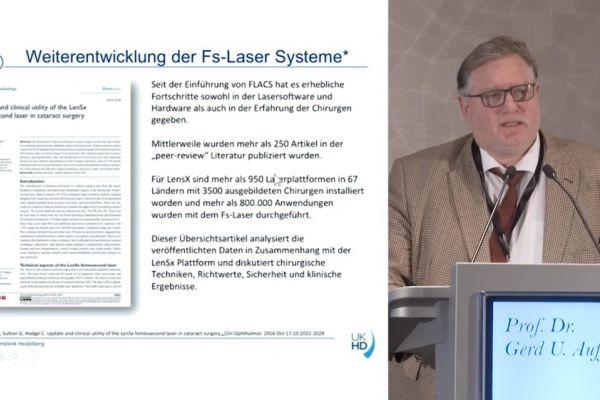 Teaserbild von ISA19 Femtosekundenlaser-assistierte Kataraktchirurgie (FLACS): Update – Prof. Auffarth
