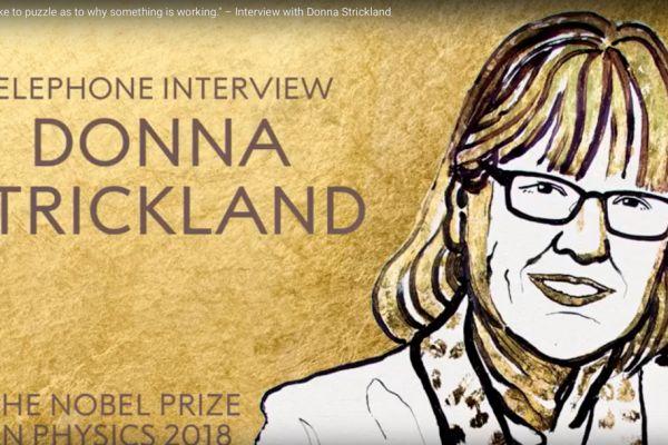 Teaserbild von Nobel Preis Physik Donna Strickland 2018