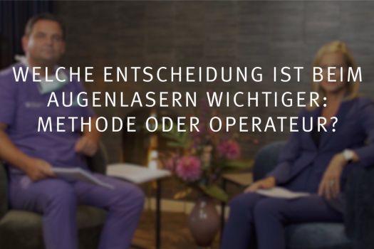 Teaserbild Ruge Interview 9: Entscheidung beim Augenlasern