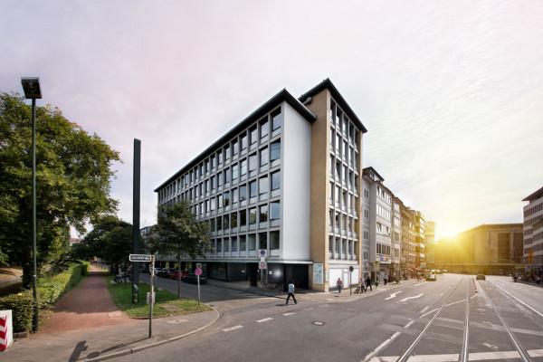 In diesem Ärztehaus am Hofgarten befindet sich unsere Augenarztpraxis.